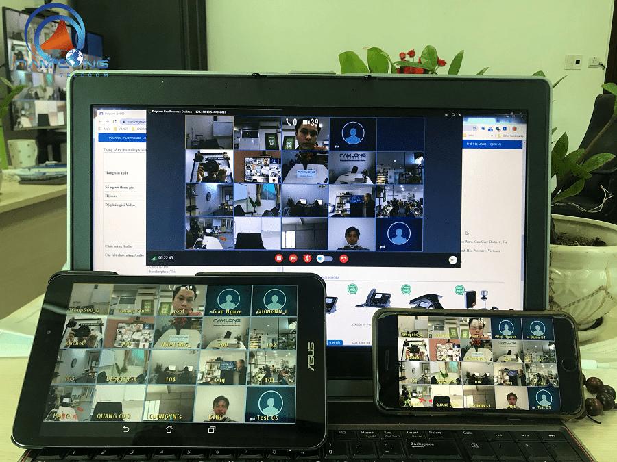 Hội nghị trực tuyến Poly (Polycom) nội địa | Bảo mật cao, kết nối đa điểm cầu
