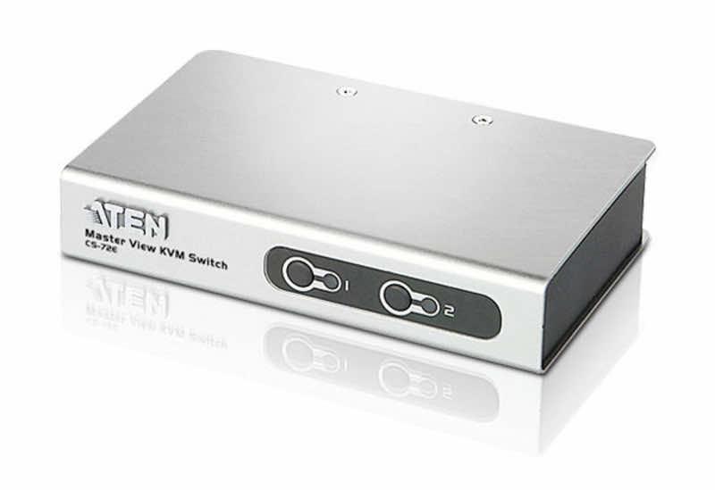 Aten CS72E 2-Port PS/2 VGA Slim KVM Switch