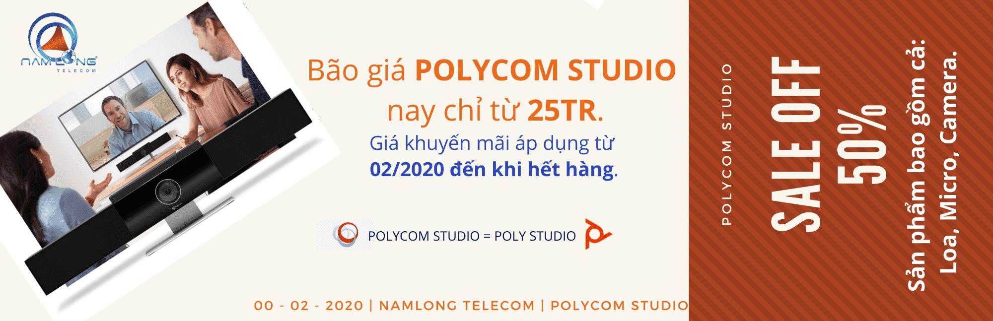 Polycom Studio – Chất Lượng Cuộc Họp 4K – Bão giá chỉ từ 25tr