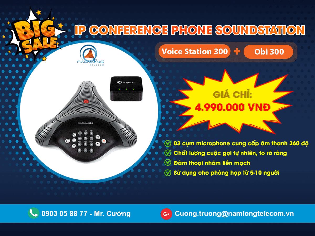Khuyến mãi cực lớn: Mua ngay gói IP Conference SoundStation chỉ với giá 4.990.000 VNĐ