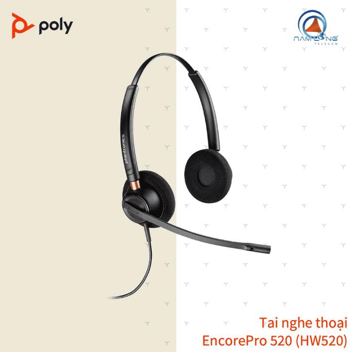 Tai nghe Call Center Poly EncorePro 520 (HW520)