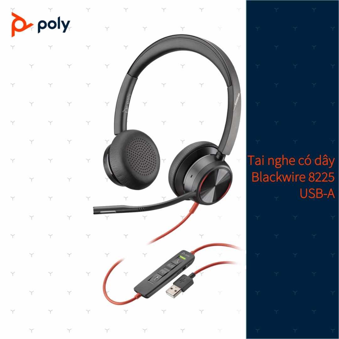 Tai nghe Plantronics Blackwire 8225 USB Type A/C