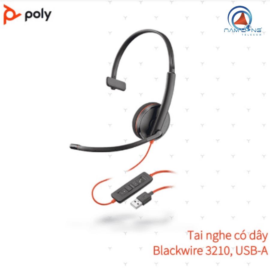 Tai nghe Plantronics Blackwire 3210 USB-A/USB-C