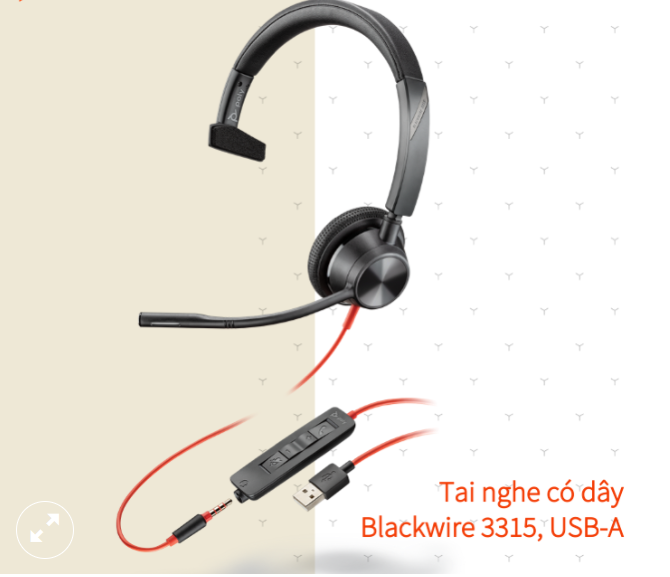 Tai nghe có dây Poly Blackwire 3315 USB Type A/C