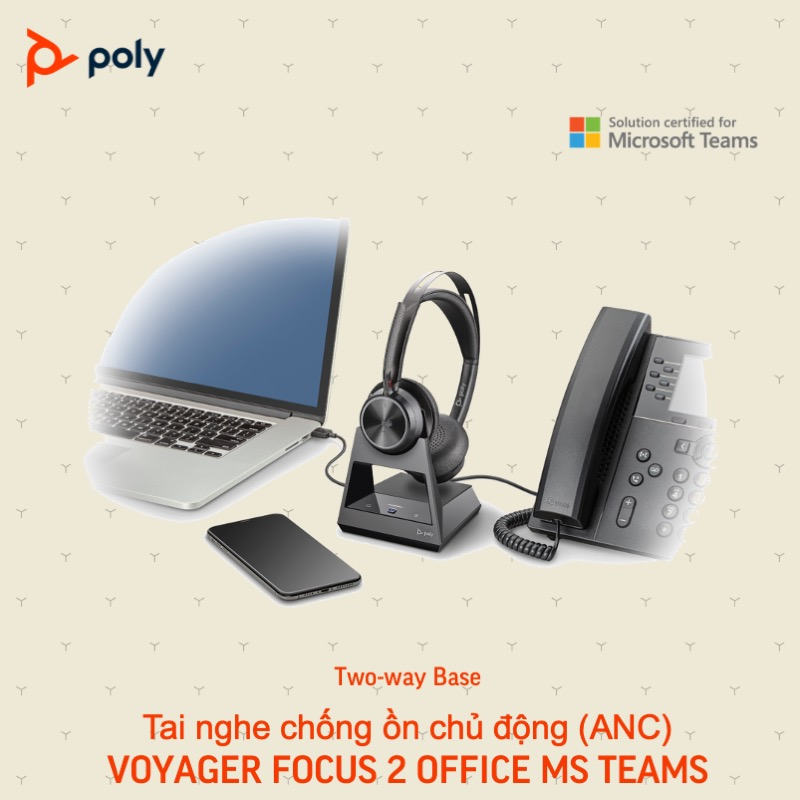 Tai nghe plantronic voyager focus 2 office & UC